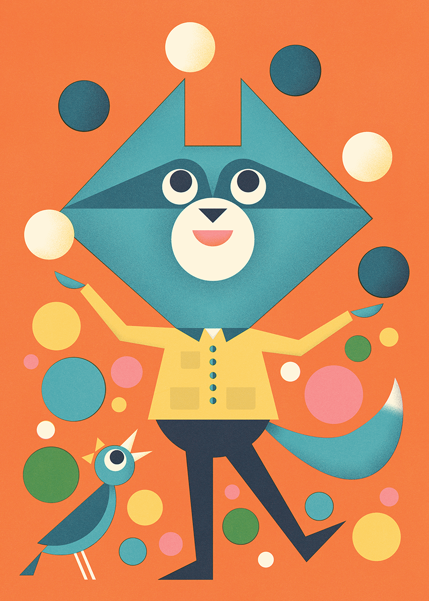 Juggling Raccoon